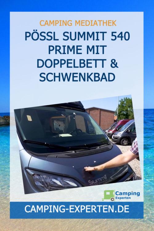 PÖSSL SUMMIT 540 PRIME mit Doppelbett & Schwenkbad