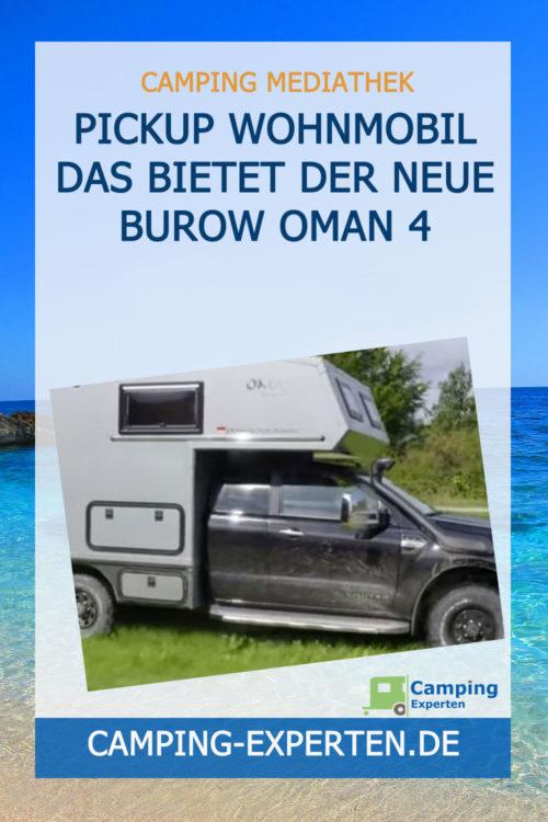 Pickup Wohnmobil Das bietet der neue Burow Oman 4