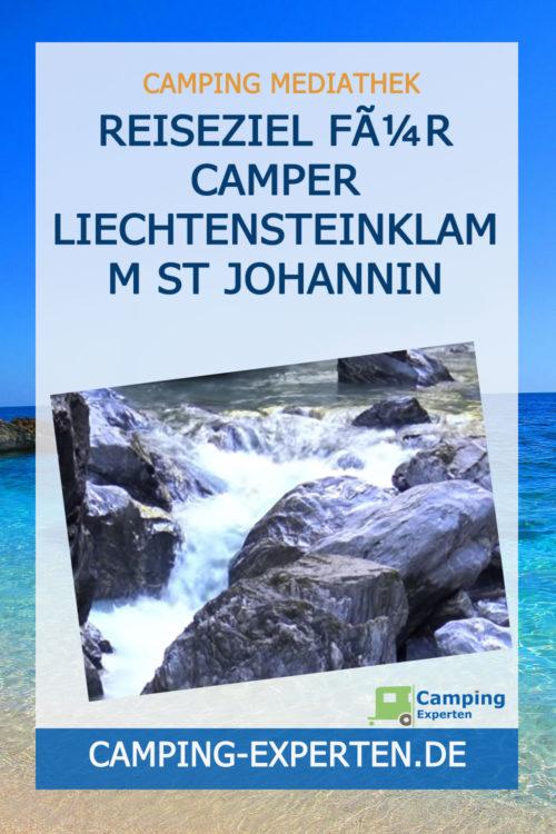 Reiseziel für Camper Liechtensteinklamm St Johannin