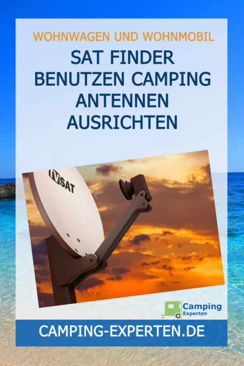 SAT Finder benutzen Camping Antennen ausrichten