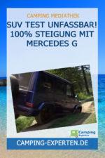 SUV Test UNFASSBAR! 100% Steigung mit Mercedes G