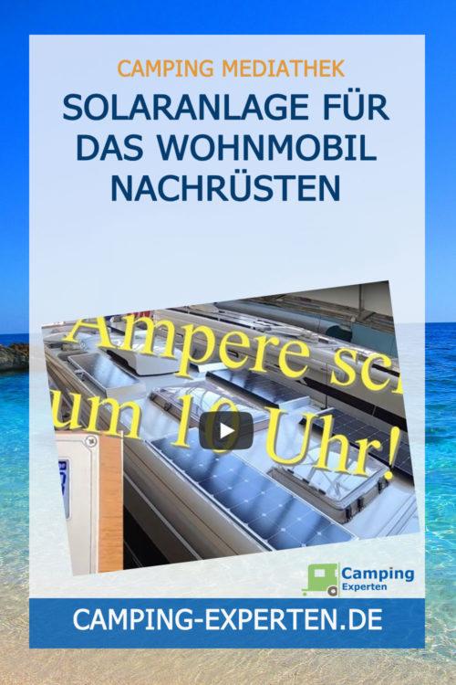 Solaranlage für das Wohnmobil nachrüsten