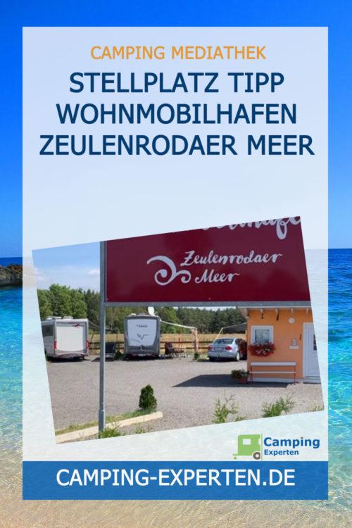 Stellplatz Tipp Wohnmobilhafen Zeulenrodaer Meer