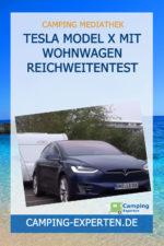 Tesla Model X mit Wohnwagen Reichweitentest
