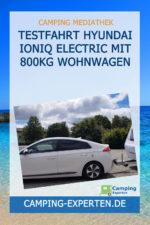 Testfahrt Hyundai Ioniq Electric mit 800kg Wohnwagen