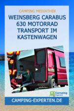 Weinsberg CaraBus 630 Motorrad Transport im Kastenwagen