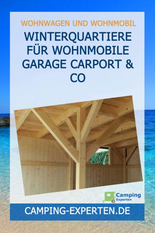 Winterquartiere für Wohnmobile Garage Carport & Co