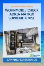 Wohnmobil Check Adria Matrix Supreme 670SL