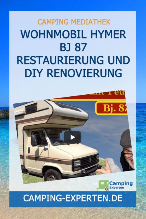 Wohnmobil Hymer Bj 87 Restaurierung und DIY Renovierung