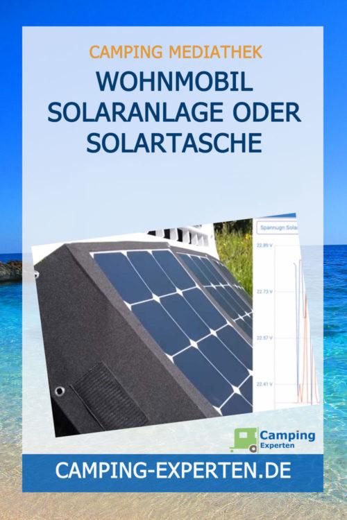 Wohnmobil Solaranlage oder Solartasche