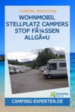 Wohnmobil Stellplatz Campers Stop Füssen Allgäu