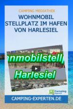 Wohnmobil Stellplatz im Hafen von Harlesiel