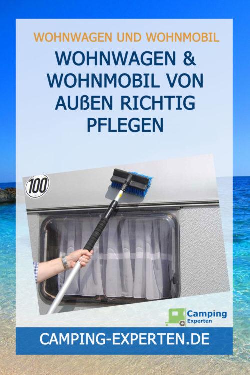 Wohnwagen & Wohnmobil von außen richtig pflegen